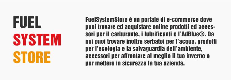 Fuelsystemstore nasce da importanti esperienze nel settore della produzione e vendita di contenitori e accessori per la gestione di carburanti e liquidi.  Sicurezza, durabilità e resistenza del prodotto sono alcune delle peculiarità che identificano il negozio.