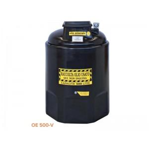 Contenitore per olio esausto in polietilene da 500 litri