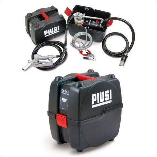 Portable kit for diesel with automatic nozzle and 12 V. pump - PRO
