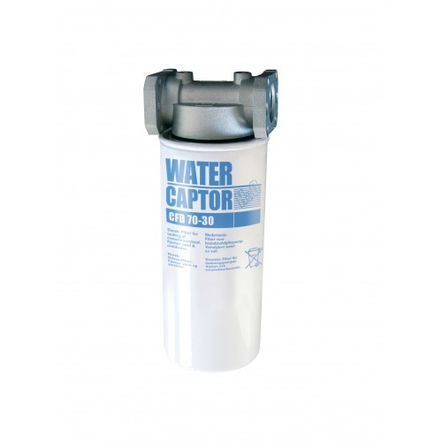 Water absorbing filter for gasoline