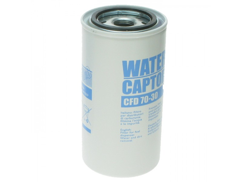 Cartridge for water absorbing filters